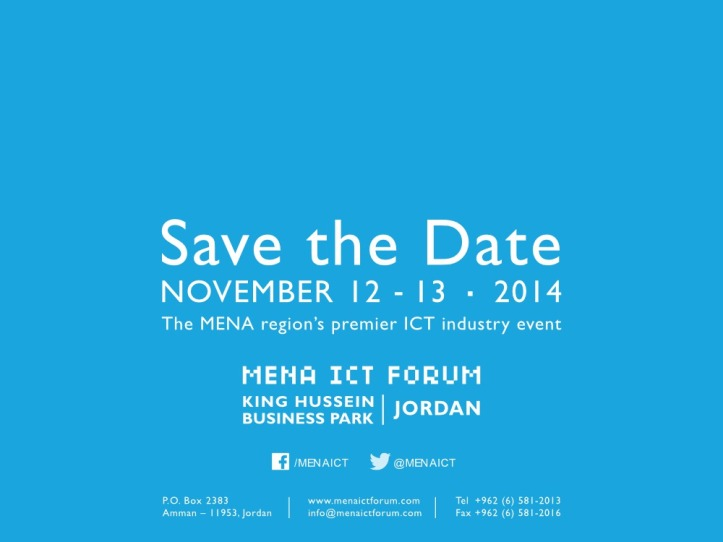 Save the Date MENA ICT-outline